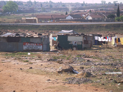 Slum in So. Africa