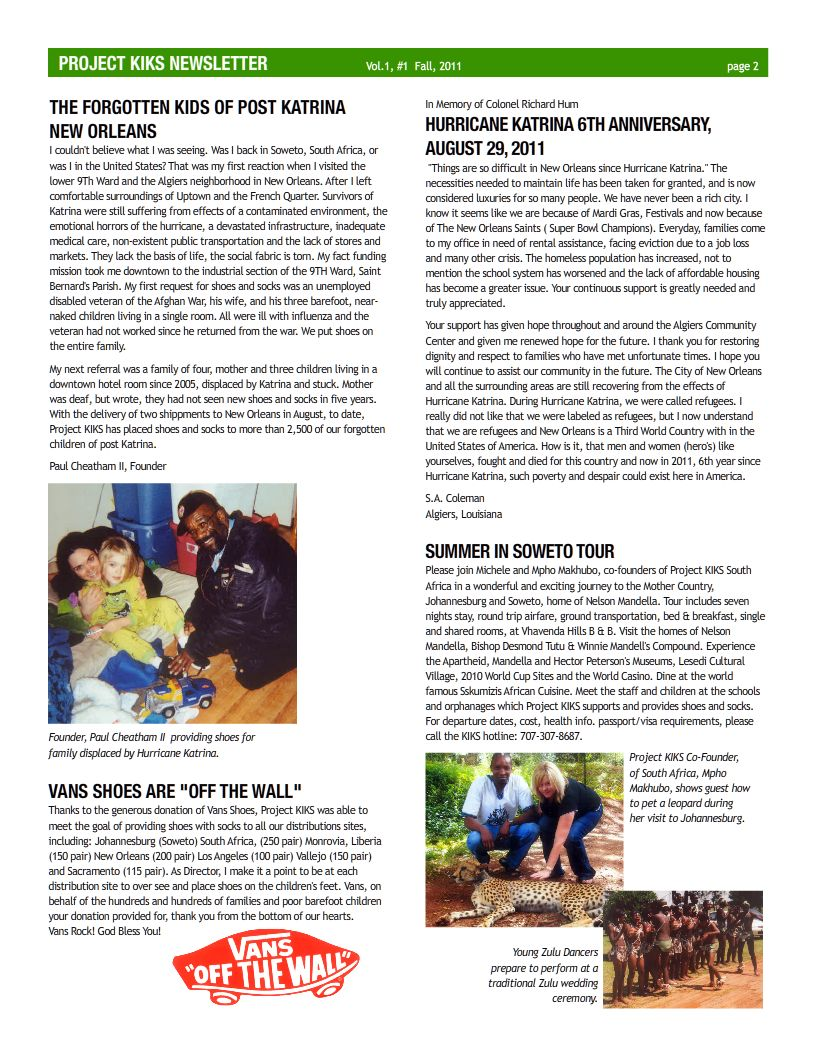 page 2 newsletter